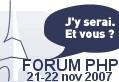 Forum PHP 8 & 9 decembre 2008,  j'y serai et vous ?